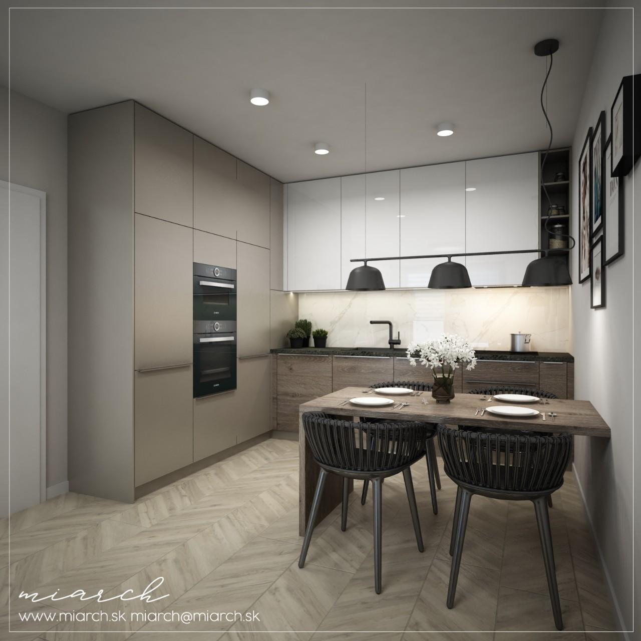 Návrh interiéru - Bytový dom Rovinka AP4 AP8 - Obrázok č. 2