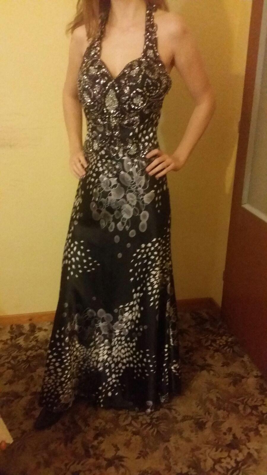 Dámske spoločenské šaty, veľkosť 38 - Obrázok č. 1