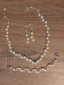 Perličkový resp. perlový set pre nevestu,