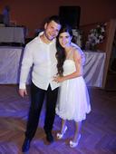 krátke svadobné šaty s čipkou, 36