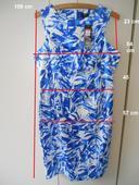 letní strakaté šaty, 46