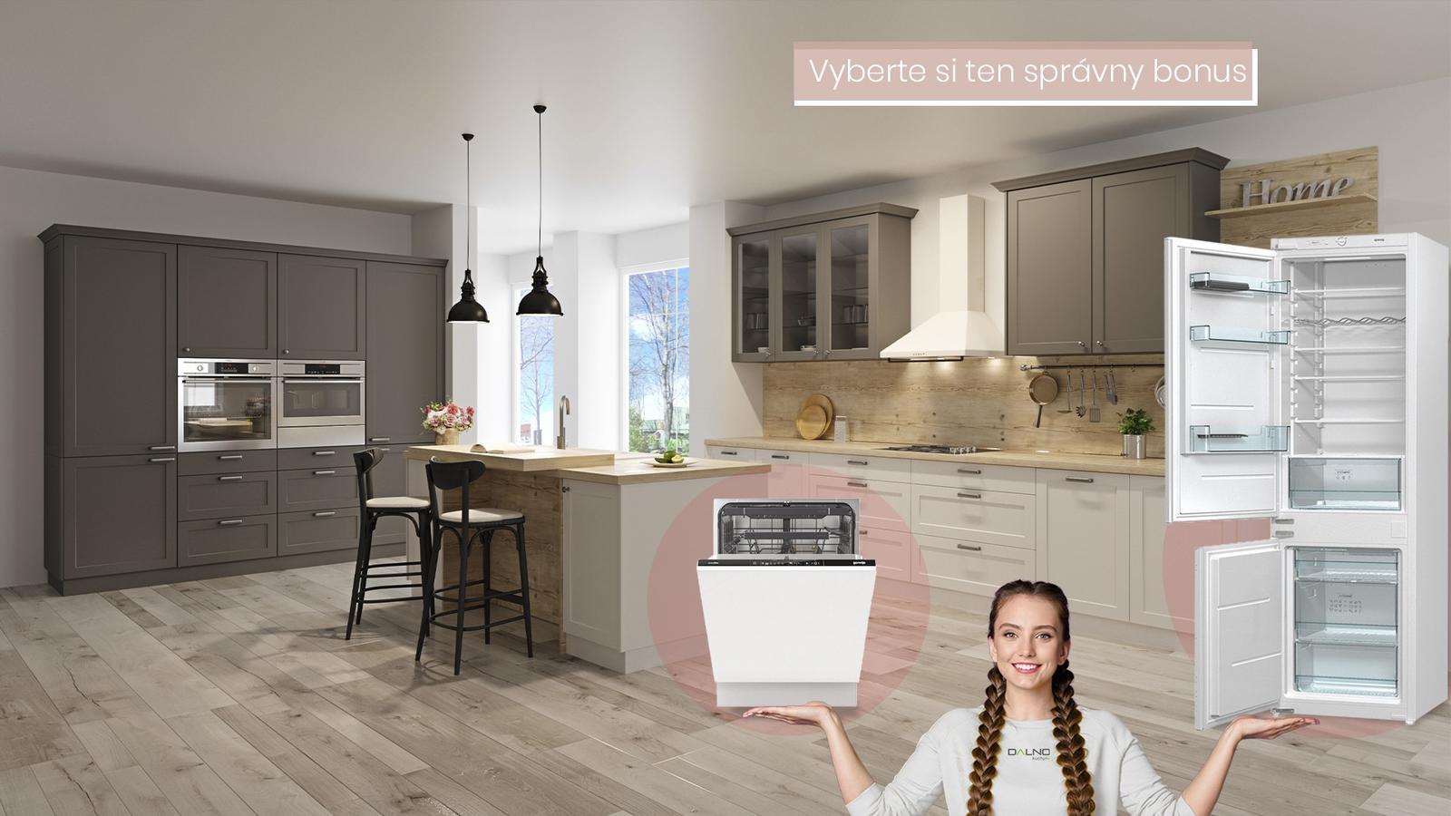 Kuchyňa Dalno, teraz s bonusom podľa vlastného výberu 👌 vstavaná chladnička alebo umývačka riadu. - Obrázok č. 1