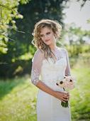 Luxusní šaty z francouzské krajky s vlečkou, 36