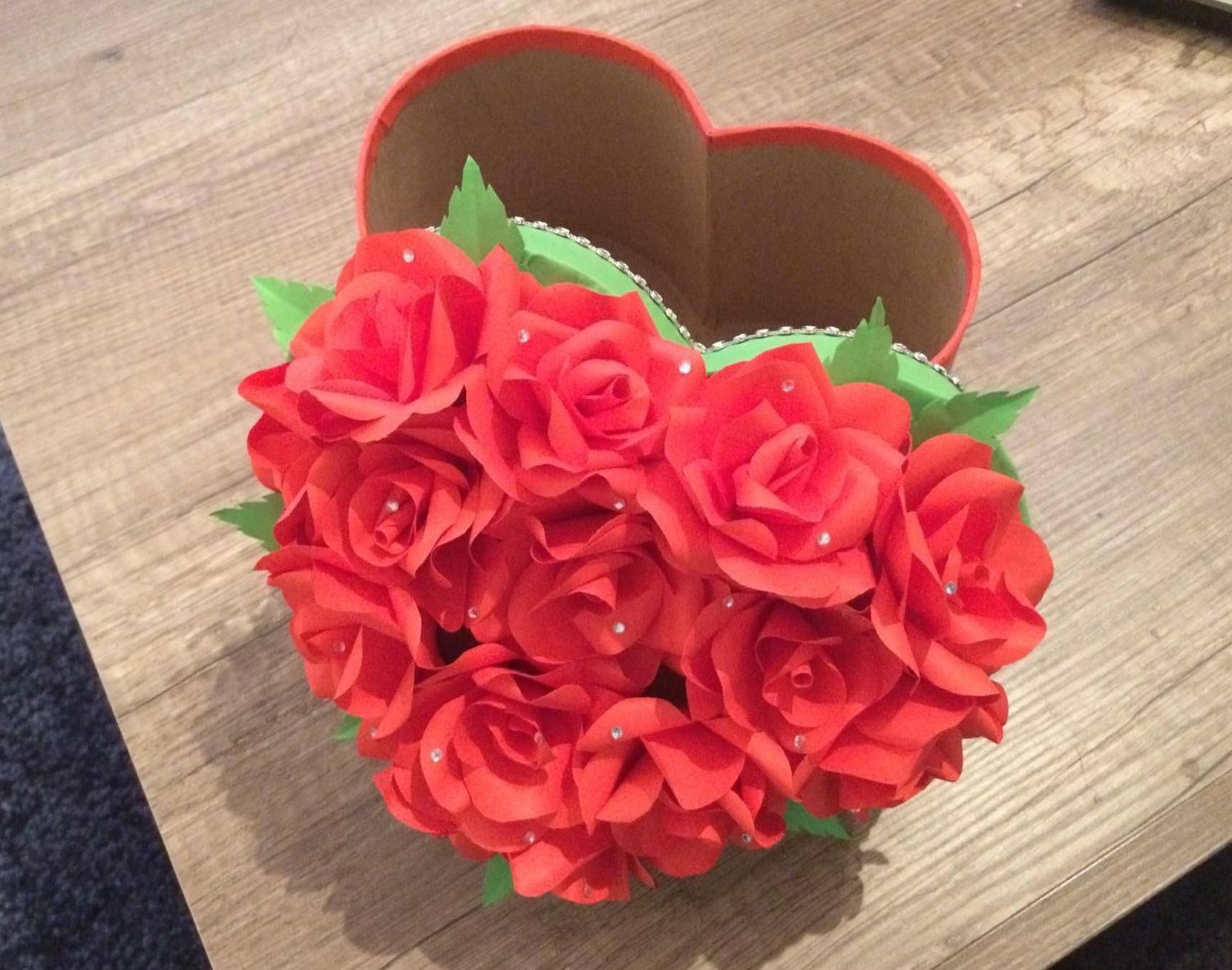 Papierové kytice a flowerbox - Obrázok č. 5