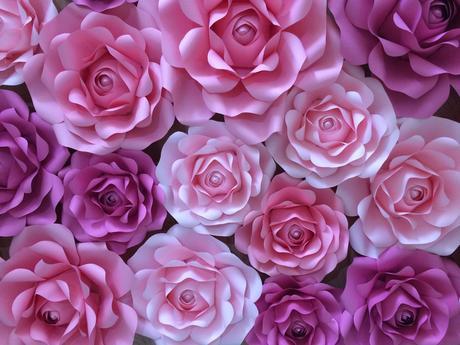 Papierové kvety z mäkkého aj tvrdého papiera - Obrázok č. 1