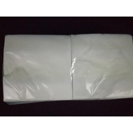 Servítky kokteilové 25x25cm biele (200 ks) - Obrázok č. 1
