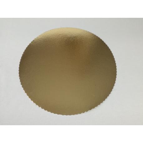 Okrúhly podnos na tortu 28cm zlatý (1ks) - Obrázok č. 1