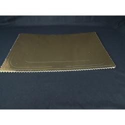 Podnos pod koláče 46x36 cm zlatý (1ks) - Obrázok č. 1