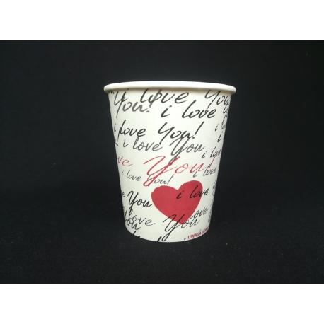 Pohár 200 Love pr.80mm (50ks) - Obrázok č. 1