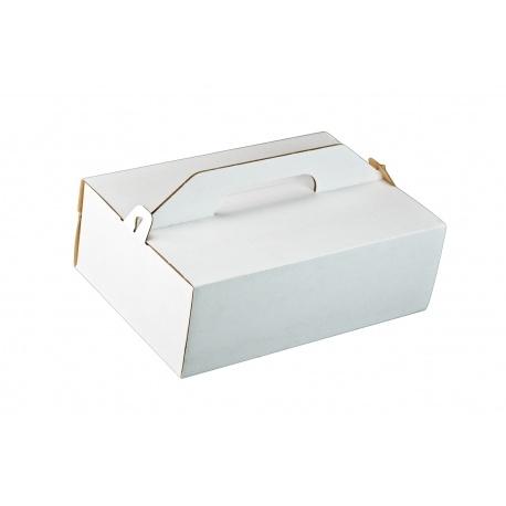 Krabica na zákusky vlnitá lepenka 27x18x8cm (25ks) - Obrázok č. 1