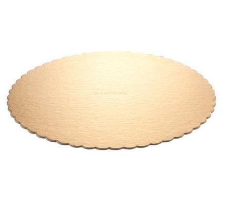 Okrúhly hrubý podnos na tortu 28cm zlatý (1ks) - Obrázok č. 1