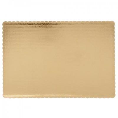 Podnos pod koláče 60x40cm zlatý (1ks) - Obrázok č. 1