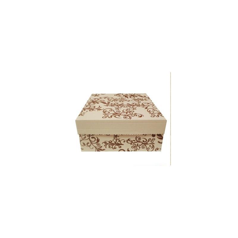 Krabica na zákusky bez ručky vzorovaná-K 19x19x10 - Obrázok č. 1