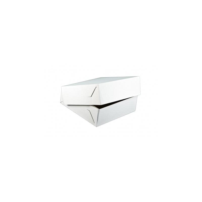 Krabica na zákusky bez ručky biela-K 28x28x10cm  - Obrázok č. 1