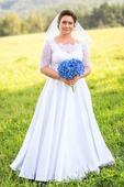 biele svadobné šaty vo veľkosti 38-46, 40