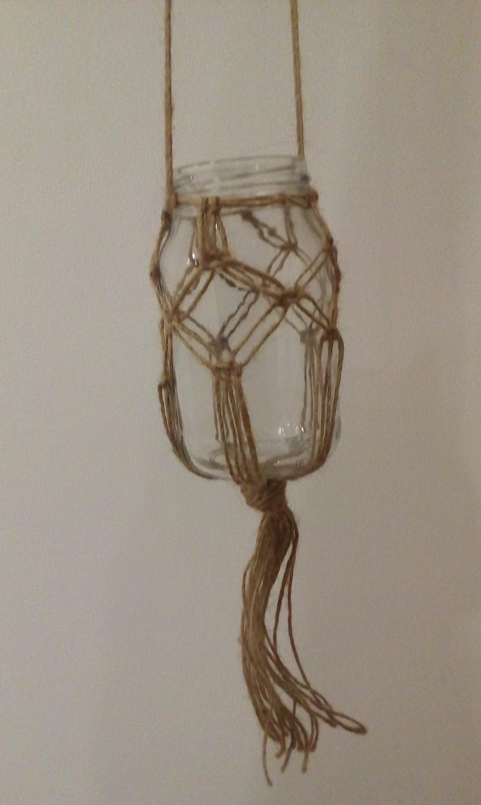 Závěsná sklenice na svíčku/vázička - Obrázek č. 1