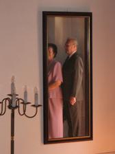 děda a babi v zrcadle - jako z Hitchkoka