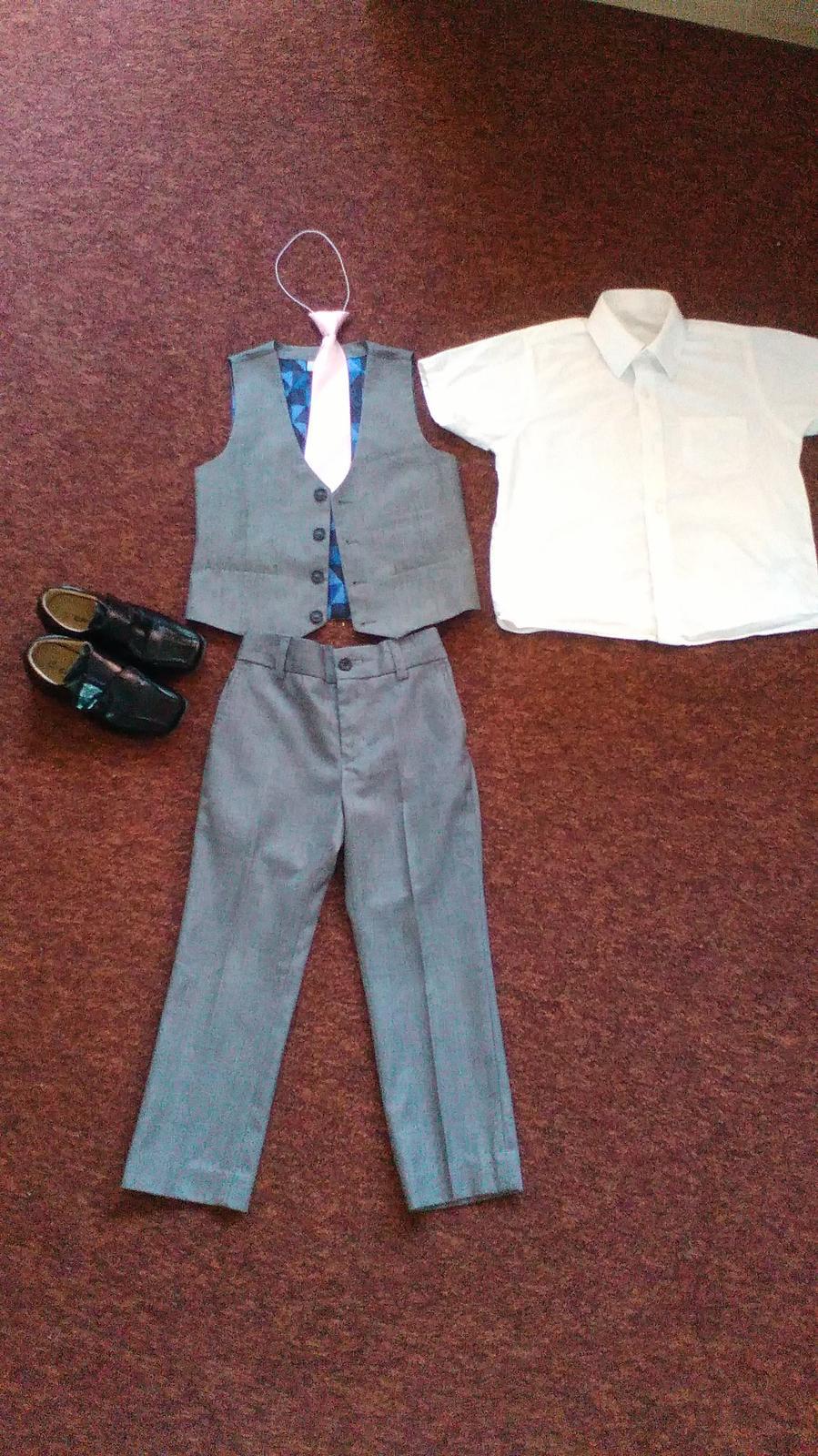Kalhoty, vesta, košile, kravata, boty na svatbu - Obrázek č. 1