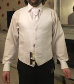 Set košeľa, vesta, kravata a kravata pre chlapca, 42