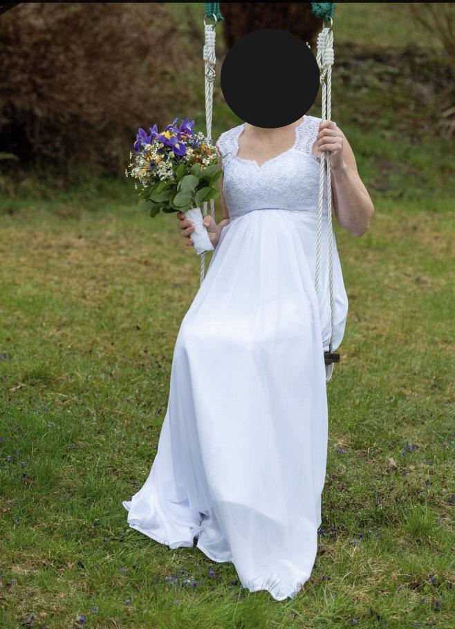 prodej svatebních šatů - vhodné i jako těhotenské - Obrázek č. 1