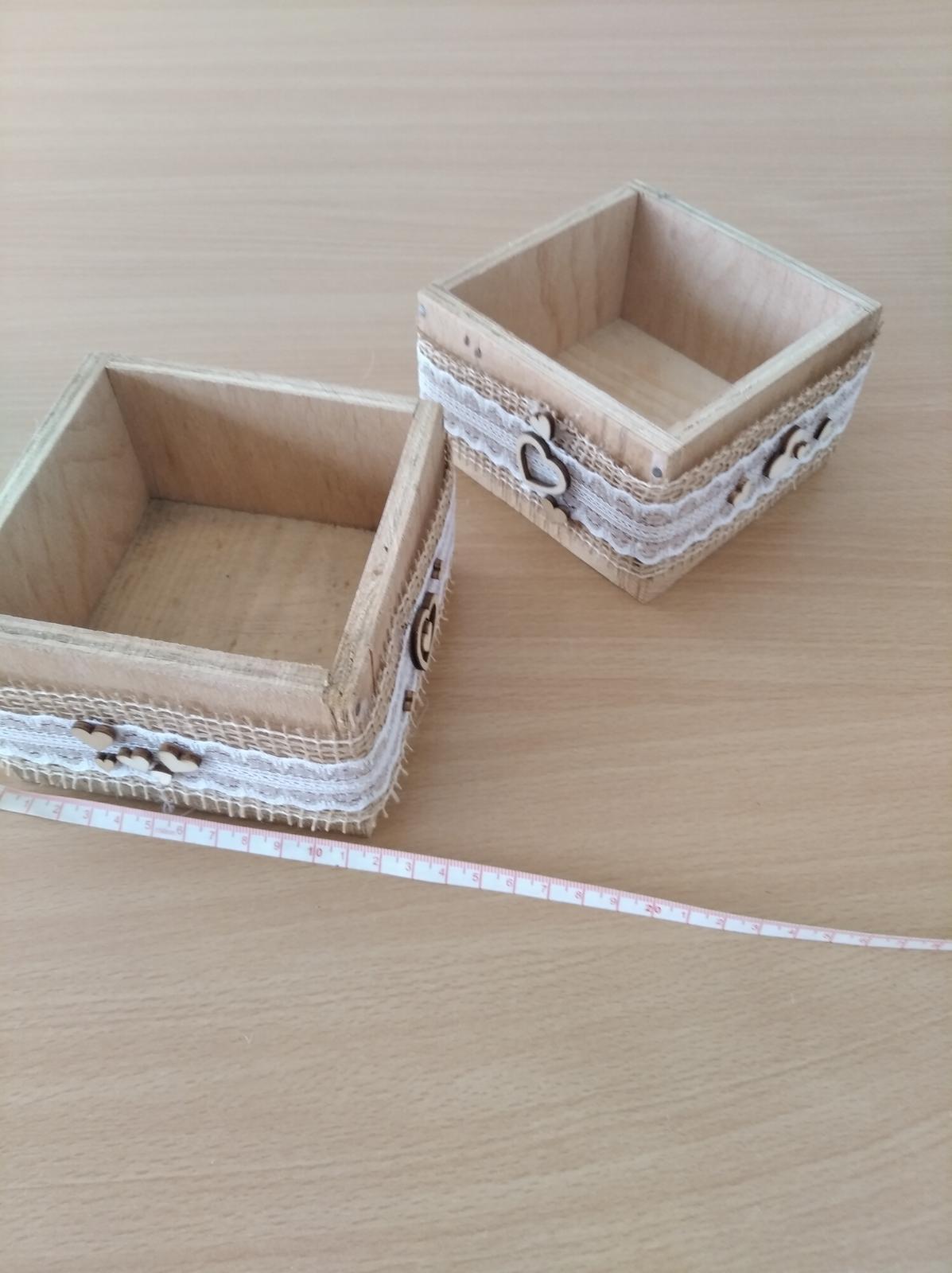 krabičky dřevěné dekorativní - Obrázek č. 1
