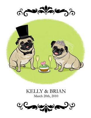 Svadobné mopsíky...alebo Bez psíka sa nevydávam :) - alebo radsej v zelenom? :)