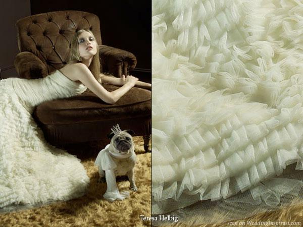 Svadobné mopsíky...alebo Bez psíka sa nevydávam :) - krémové vlnky ....:)