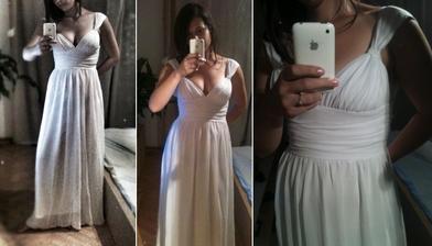 Moje první svatební šaty - fajn ale neseděly, prodala jsem je :-)