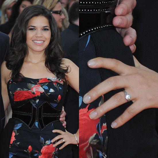 Slavné zásnubní prsteny - America Ferrera