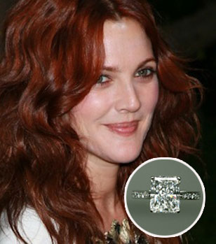 Slavné zásnubní prsteny - Drew Barrymore