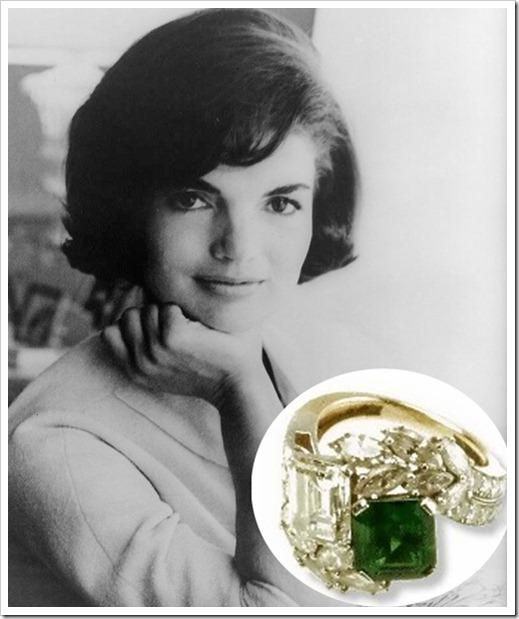 Slavné zásnubní prsteny - Jacqueline Kennedy