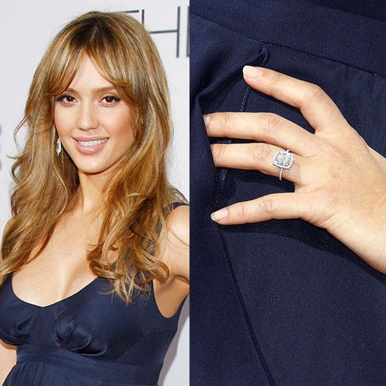 Slavné zásnubní prsteny - Jessica Alba