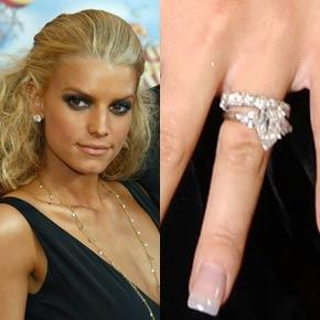 Slavné zásnubní prsteny - Jessica Simpson