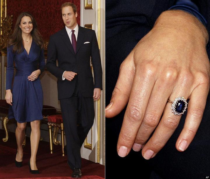 Slavné zásnubní prsteny - Vévodkyně Kate