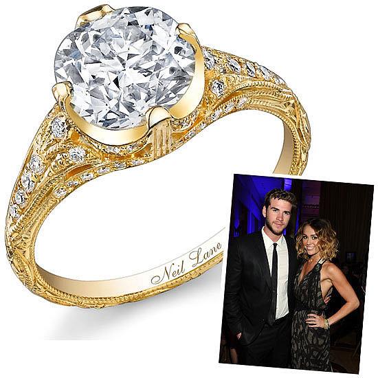 Slavné zásnubní prsteny - Miley Cyrus