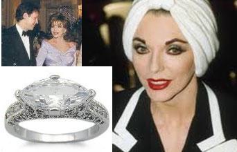 Slavné zásnubní prsteny - Joan Collins