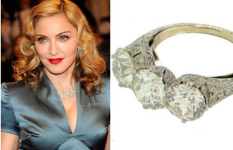 Slavné zásnubní prsteny - Madonna