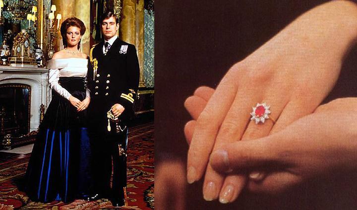 Slavné zásnubní prsteny - Sarah Ferguson