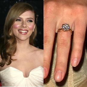 Slavné zásnubní prsteny - Scarlett Johansson