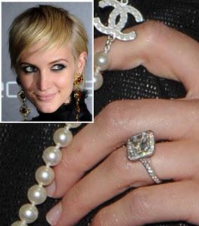 Slavné zásnubní prsteny - Ashlee Simpson
