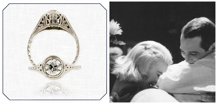 Slavné zásnubní prsteny - Joanne Woodward a Paul Newman