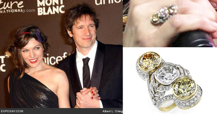 Slavné zásnubní prsteny - Milla Jovovich