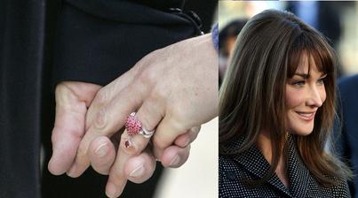 Carla Bruni - Sarkozy (a nejzvláštnější prsten co jsem viděla :-O