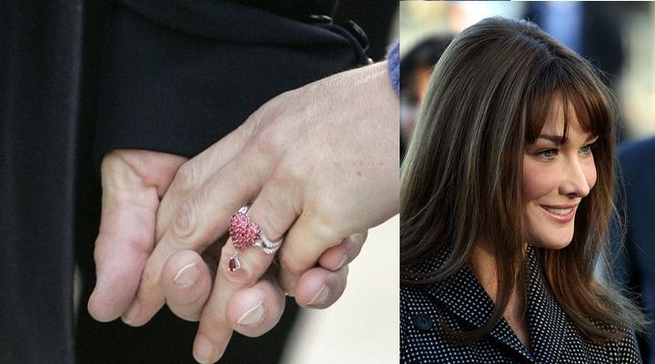 Slavné zásnubní prsteny - Carla Bruni - Sarkozy (a nejzvláštnější prsten co jsem viděla :-O