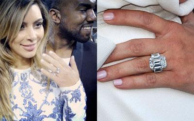 Slavné zásnubní prsteny - Kim Kardashian