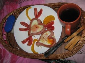 moje valentínske raňajky do postele od môjho miláčika
