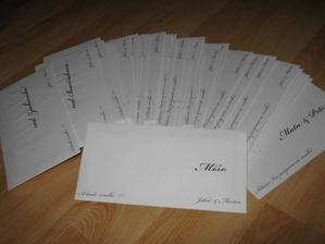 Obálky s oznámeniami