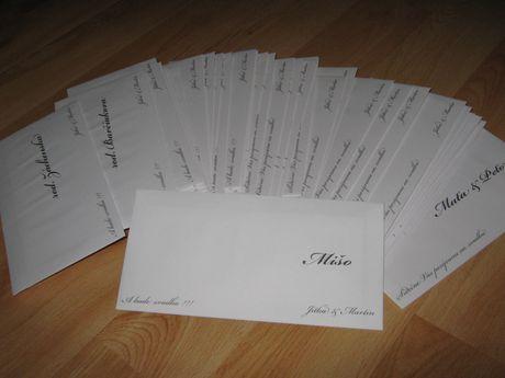 Co uz mame - Obálky s oznámeniami
