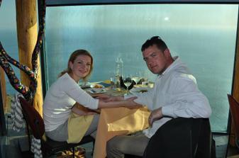 Na svatebni ceste v Kalifornii - vecere v Sierra Mar restauraci v Big Sur