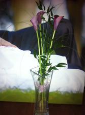 a dostala jsem takovou krásnou kytí :-)